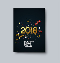happy new 2018 year poster template vector image