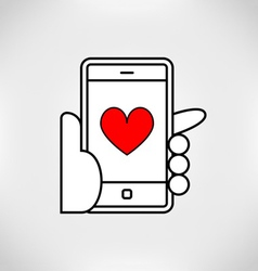 love mobile vector image