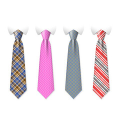 neck ties templates with plaid texture vector image vector image