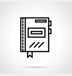 Office organizer simple line icon vector