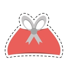pink gift box christmas celebration line dotted vector image vector image