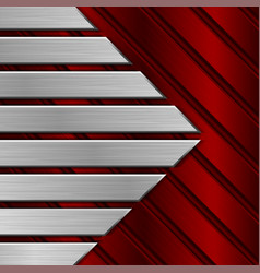 Red metal striped background vector