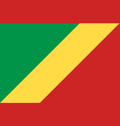 Republic of the congo national current flag vector