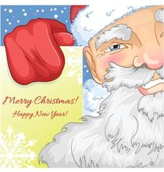 Santa Claus with Christmas greetings vector image