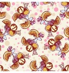 Seamless pattern with ice cream orange berries vector image