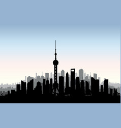 Shanghai city skyline chinese urban landscape vector