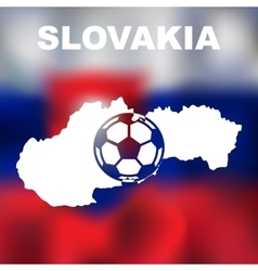 Slovak abstract map vector