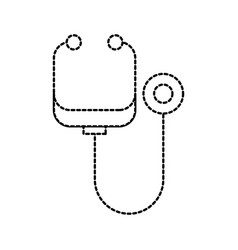 stethoscope medicine instrument health examination vector image