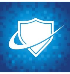 Swoosh shield icon vector