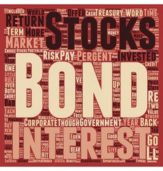 The Bond Market And How You Can Benefit text vector image vector image