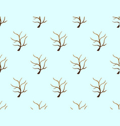 tree stripped bare on blue background vector image vector image
