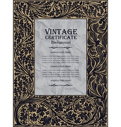 vintage frame design - art nouveau vector image