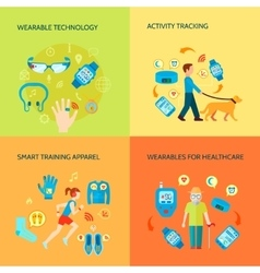 Wearable Gadgets Concept Icons Set vector image vector image