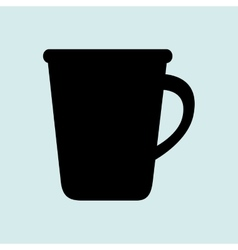 Cup plate beverage icon vector