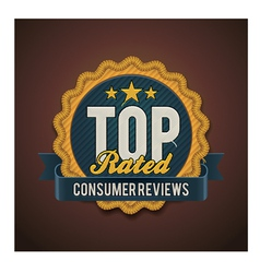 Top rated badge vector
