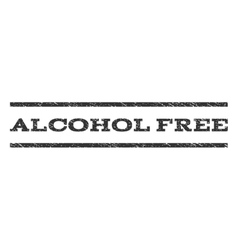 Alcohol free watermark stamp vector