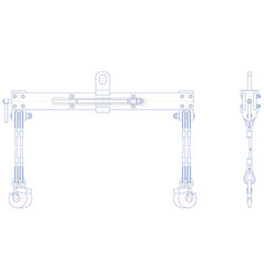 travers lifting mechanism vector image
