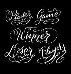 Winner hand written typography vector