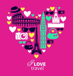 Traveling love vector