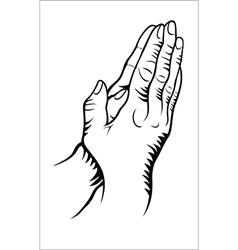 Hand praying vector image