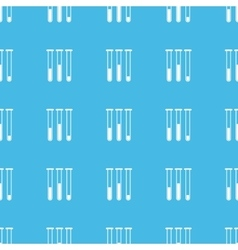 Test-tubes straight pattern vector