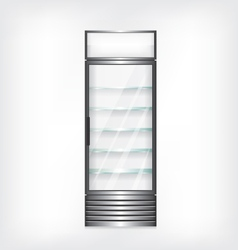 Refrigerator with glass shelves vector
