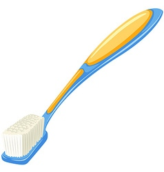 Toothbrush in blue and yellow color vector image