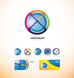 Corporate business sphere circle logo vector image