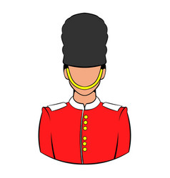 A royal guard icon cartoon vector