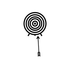 archery target arrow icon vector image