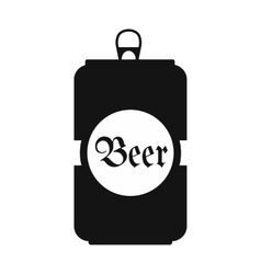 Beer black icon vector image