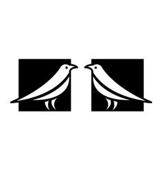 bird icons vector image