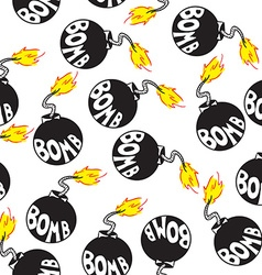 bomb pattern vector image