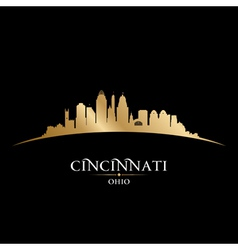 Cincinnati Ohio city skyline silhouette vector image