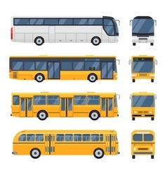 flat design public transport Retro vintage Big vector image vector image