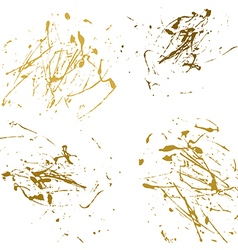 gold splatter paint abstract on white background vector image vector image