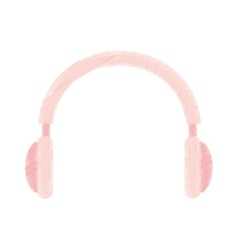 Headphone audio device isolated icon vector