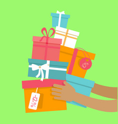 holiday sales concept in flat design vector image