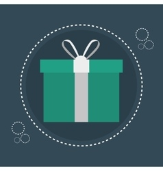 icon gift e commerce design vector image