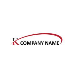 K letter swoosh logo vector