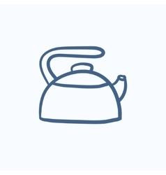 Kettle sketch icon vector image