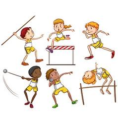 Kids engaging in outdoor activities vector