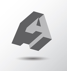 Letter A icon vector image vector image