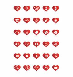 love web icons vector image vector image
