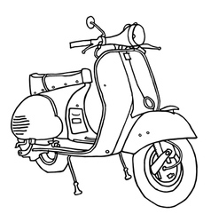 Motor scooter vector