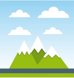 mountains landscape design vector image