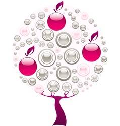 pink tree vector image
