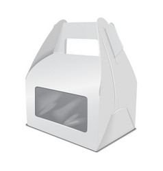 Realistic paper cake packaging box mock up gift vector
