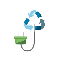 reduce symbol with power cable icon vector image