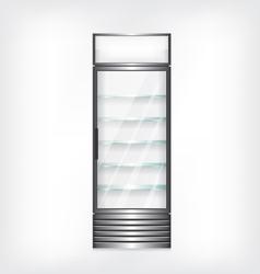 Refrigerator with glass shelves vector